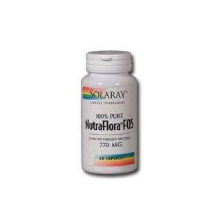 NutraFlora FOS 770mg Solaray 60 Caps: Health & Personal Care