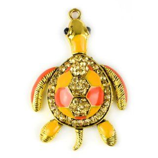 Huan Xun Movable Turtle Charms for Jewelry Making and Scarf Making Red Yellow Pendants Jewelry