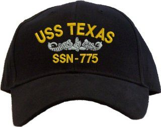 USS Texas SSN 775 Embroidered Baseball Cap   Black  Other Products