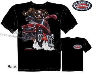 SIZE Large 1955 Chevrolet Gasser T Shirts Monster Hot Rod 55 Chevy Racing Tee: Everything Else