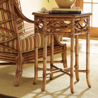 Tommy Bahama by Lexington Home Brands Beach House Coral Springs Golden Umber Wood Accent Table   End Tables