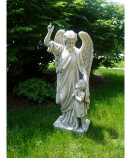 Guardian Angel Child's Prayer Garden Statue   Garden Statues
