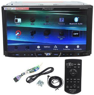 """Pioneer AVH X4600BT 7"""" Double Din Car Stereo Receiver Bluetooth, Siri """"Eyes Free"""", APP Radio Mode, Pandora, iPhone/iPod/Android Compatible, USB/AUX Input and Wireless Remote Control"""