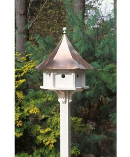 Lazy Hill Farms Polished Copper Roof Carousel Bird House   Bird Houses