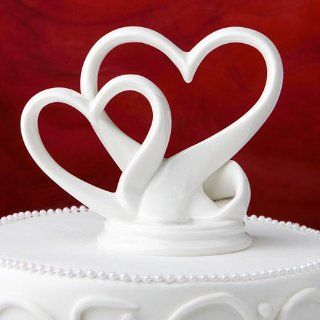 Wedding Cake Toppers  Interlocking Hearts Wedding Cake Topper Kitchen & Dining