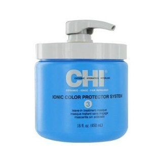 CHI IONIC COLOR PROTECTOR SYSTEM 3 LEAVE IN TREATMENT MASQUE 16 OZ UNISEX: Health & Personal Care