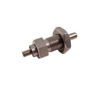 GN 817 NI Series Stainless Steel Non Lock out Type Indexing Plunger with Multiple Pin Lengths with Threaded Spindle, with Lock Nut, M10 x 1.0mm Thread Size, 18mm Thread Length, 15 Newton Spring Load End Metalworking Workholding Industrial & Scientifi