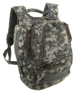 """Digital Camo Camouflage Military Style Side Loading 17"""" Laptop Backpack with Water Sand Hood Clothing"""