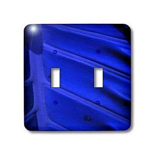 3dRose lsp_100536_2 Tears Of Cobalt With Blue Leaf Double Toggle Switch   Switch Plates
