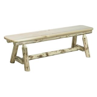 Montana Woodworks Plank Style Bench   Outdoor Benches