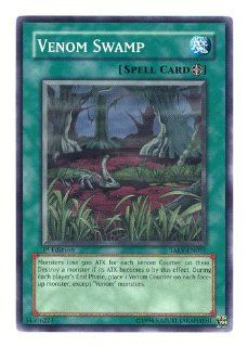 2007 Tactical Evolution 1st Edition TAEV51 Venom Swamp / Single YuGiOh! Card in Protective Sleeve: Toys & Games