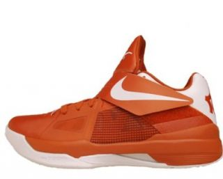 Nike Zoom KD IV Texas Longhorns NCAA University Kevin Durant 2012 QS 473679 801 [US size 9.5]: Shoes