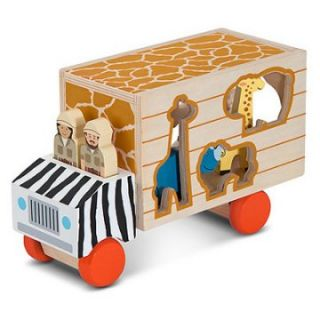 Melissa and Doug Animal Rescue Shape Sorting Truck Playset   Playsets