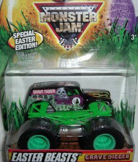 Hot Wheels Monster Jam  Easter Edition Grave Digger 1/64th Scale Toys & Games