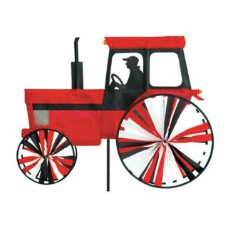 Premier Designs Modern Tractor Red Wind Spinner   Wind Spinners
