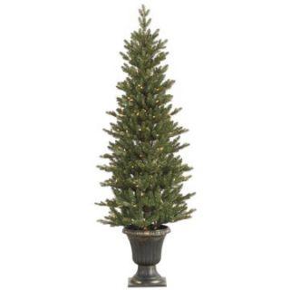 Vickerman 5 ft. Potted Slim Mini Noble Pre Lit Christmas Tree   Christmas Trees