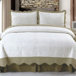 Lavish Home Jeana Embroidered Quilt Set   Quilts & Coverlets