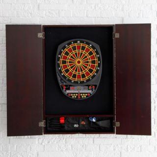 Ultimate Electronic Dart Board Package   Arachnid 3000, Cabinet, Darts and Toe Line   Electronic Dart Boards