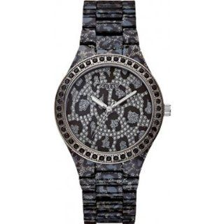 Guess W0015L1 Ladies Leopard Print Watch: Watches