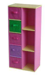 4Gr8 Kidz Pink Series Kids Wooden Cabinet Organizer: Toys & Games