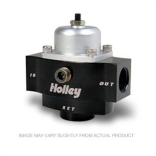 "Holley 12 841 4.5 9 PSI Adjustable Bypass Billet Fuel Pressure Regulator with 3/8"" NTP Ports Automotive"