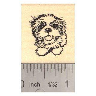 Shih Tzu Puppy Dog Rubber Stamp
