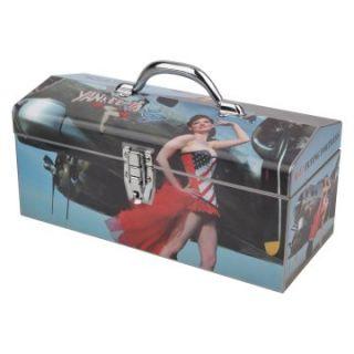 Sainty International 24 062 Art Deco Warbird Pinup Girls Yankee Tool Box   Tool Boxes