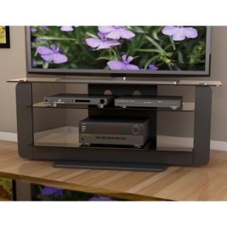 Sonax T 201 TAT Atlantic 52 in. TV Stand with Glass Shelves   Midnight Black   TV Stands