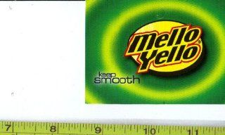 Medium Square Size Mellow Yellow LOGO Soda Vending Machine Flavor Strip, Label Card, Not a Sticker