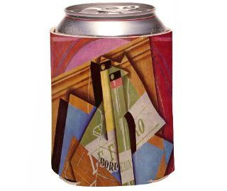 Rikki KnightTM Juan Gris Art Still Life with Bordeau Winde Design Drinks Cooler Neoprene Koozie Kitchen & Dining