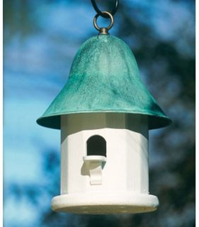 Lazy Hill Farms Blue Verde Copper Roof Copper Top Bird House   Bird Houses