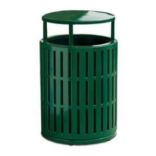 Anova Furnishings 55 Gallon Latitude Receptacle with Side Opening Door and Bonnet Lid and Liner