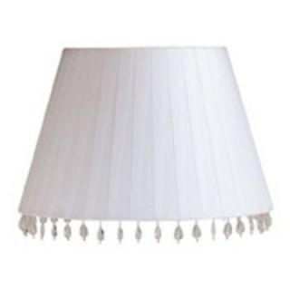 Laura Ashley SBF613 Aida 13.5 in. White faux silk barrel Shade.   Lamp Shades