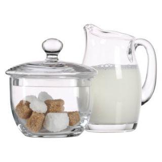 Luigi Bormioli Michelangelo Glass Sugar and Creamer Set   Sugar & Creamers
