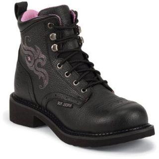 Justin Women's Gypsy Pebble Grain Work Boot Steel Toe Shoes