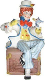 """Cybis hand painted porcelain clown sculpture entitled """"Jumbles & Friend   Collectible Figurines"""