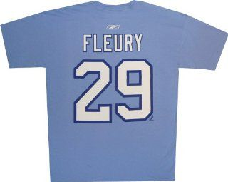Pittsburgh Penguins Marc Andre Fleury Winter Classic Blue T Shirt (XXL)  Sports Fan T Shirts  Sports & Outdoors