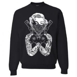 Marilyn Monroe Gangster Guns Tattoo Asst Colors Sweatshirt Crewneck by DSC at  Men�s Clothing store