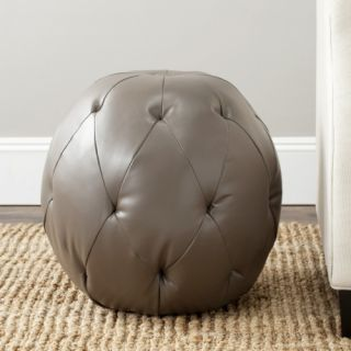 Safavieh Santiago Leather Pouf Ottoman   Ottomans