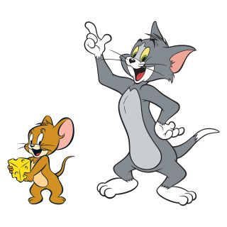 Hanna Barbera   Tom and Jerry Peel and Stick Giant Wall Decals   Wall Decals