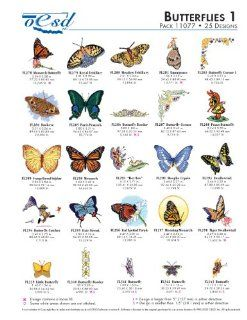 OESD Embroidery Machine Designs Butterflies 1 #11077 Kitchen & Dining