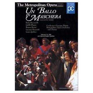 Verdi   Un Ballo in Maschera ~Featuring Luciano Pavarotti, Katia Ricciarelli, Judith Blegeni, Louis Quilico, Bianca Berini; Conductor Giuseppe Patane; Director Brian Large [So. Korean IMPORT / NTSC   ALL REGION Play] Luciano Pavarotti, Katia Ricciarell