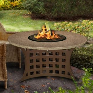 California Outdoor Concepts LaCosta Round Chat Height Fire Pit Table   Fire Pits