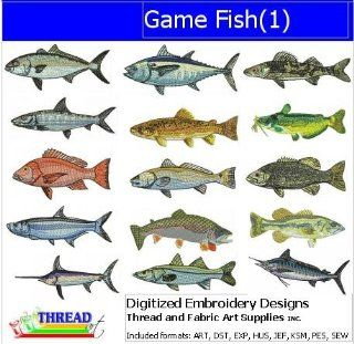 Digitized Embroidery Designs   Game Fish(1)   CD