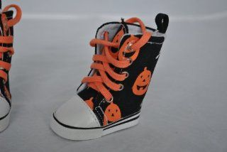 Pumpkin & Ghost Halloween High Top Tennis Shoes for American Girl Dolls and Most 18 Inch Dolls: Toys & Games
