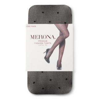 Merona Womens Control Top Sheer Tights   Ebony Dot M/L