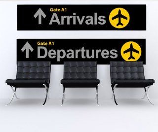Wall Graphic Decal Sticker Airport Arrival Departure Sign #879   Wall Decor Stickers