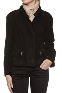 Cristiano di Thiene Leather Jacket MADRAS, Color: Black, Size: 38 at  Women�s Clothing store