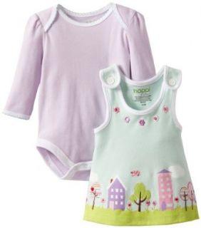 Happi by Dena Baby Girls Newborn Winter Jumper Set, Purple, 0 3 Months Clothing