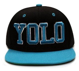 City Hunter Cf918t Yolo Snapback Cap   Black/turquoise: Everything Else
